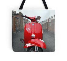 Red Vespa Rally 200 Tote Bag