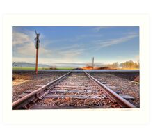 Old set of tracks  Art Print