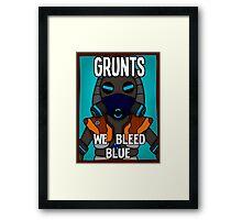 Grunts: We Bleed Blue Framed Print
