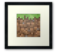 Minecraft Block Framed Print