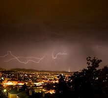 Lightening Over Glebe by Andrew Wilson