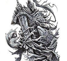 Artorias and Sif - Dark Souls by devlinart