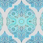 Through Ocean & Sky - turquoise & blue Moroccan pattern by micklyn