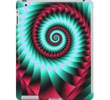 Giant Spiral in mint and pink iPad Case/Skin