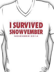 Funny 'I Survived Snowvember 2014' Winter Storm T-Shirt T-Shirt