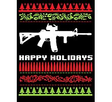 Funny AR-15 Ugly Christmas Sweater T-Shirt and Gifts Photographic Print