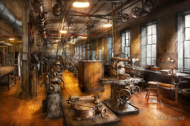 Machinist - Industrious Society by Mike  Savad