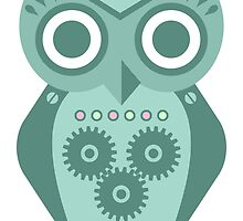 Owl Robot #2 by pounddesigns
