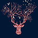 Christmas Stag by modernistdesign