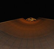 USC Sphere at night from directly below by cfam