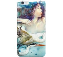 """Dancing with Birds"" - drawing  iPhone Case/Skin"