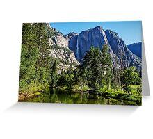 View from the Swinging Bridge, Yosemite National Park, California, USA Greeting Card