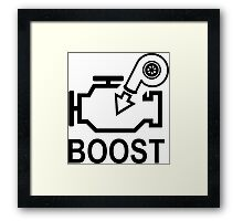 Boost Engine Framed Print