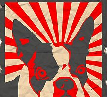 Propaganda Boston Terrier by pounddesigns