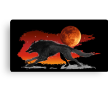 Blood Moon Wolf Canvas Print
