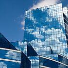 Glass Building in Blue by JKunnen