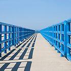 Walkway In Blue by JKunnen