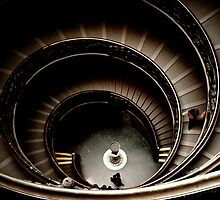 Vatican Museum Spiral Staircase by Christopher Chan