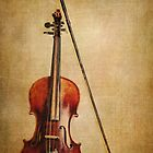 Violin with Bow by Kadwell