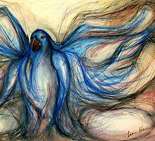 The Hyacinth Blue Macaw by Leni Kae