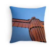 Angel on blue Throw Pillow