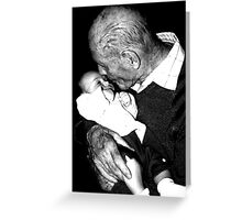 young and old Greeting Card