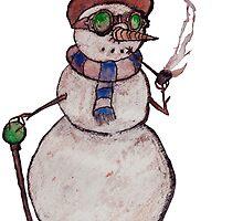Smoking Steampunk Snowman by Glen A. Lewis
