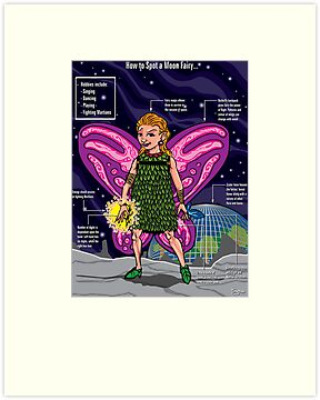 A Spotter's Guide to Moon Fairies by Simon Sherry