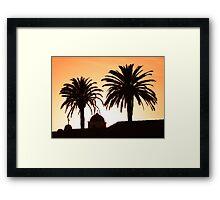 Mission Sunset Framed Print