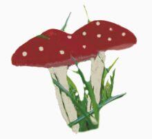 Cute Mini Red Mushrooms  Kids Clothes