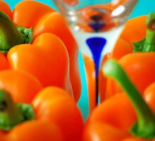 Yellow Bellpeppers with Martini Glass. by REHILL61