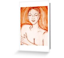 Mystery lady Greeting Card