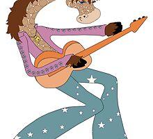 Jimmy Giraffe's Guitar by redqueenself