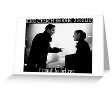 X Files Black Metal Greeting Card