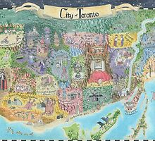 Fantasy Map of Toronto, Might and Magic Style by catshrine