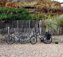 Lets park the bikes and  get some fish and chips. by Karen  Betts