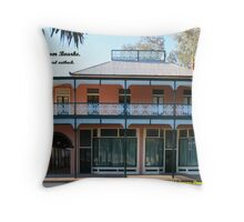 Greeting Card, Old Towers Drug Co Building. Throw Pillow