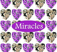 MIRACLES IN PURPLE AND WHITE FLOWERS by JLPOriginals