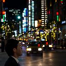 Salary-man's contemplation - Tokyo, Japan by Norman Repacholi