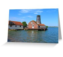 The Redundant Windmill - Langstone Harbour Greeting Card