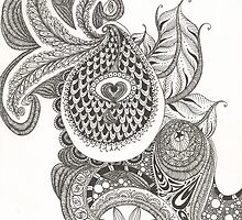My Paisley Peacock Heart by KatieMaryMac