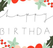 Sophia Happy Birthday/Greetings Card Sticker