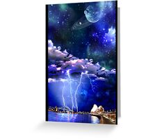 sydney light show Greeting Card