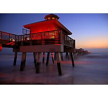 The Beach Lantern at Sunrise Photographic Print