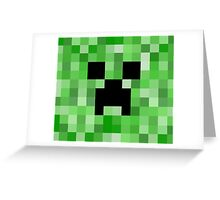 Creeper face - Minecraft Greeting Card
