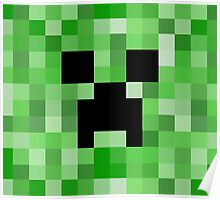 Creeper face - Minecraft Poster
