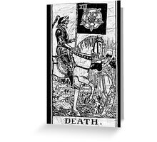 Death Tarot Card - Major Arcana - fortune telling - occult Greeting Card