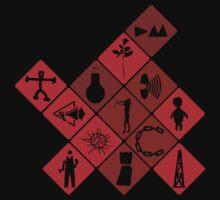 Depeche Mode : Logo Tribute 2, Red by Luc Lambert