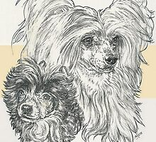Chinese Crested Powderpuff, Father & Son by BarbBarcikKeith