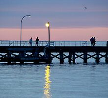 Sunset Relaxing ... Busselton Jetty W.A. by Coralie Plozza